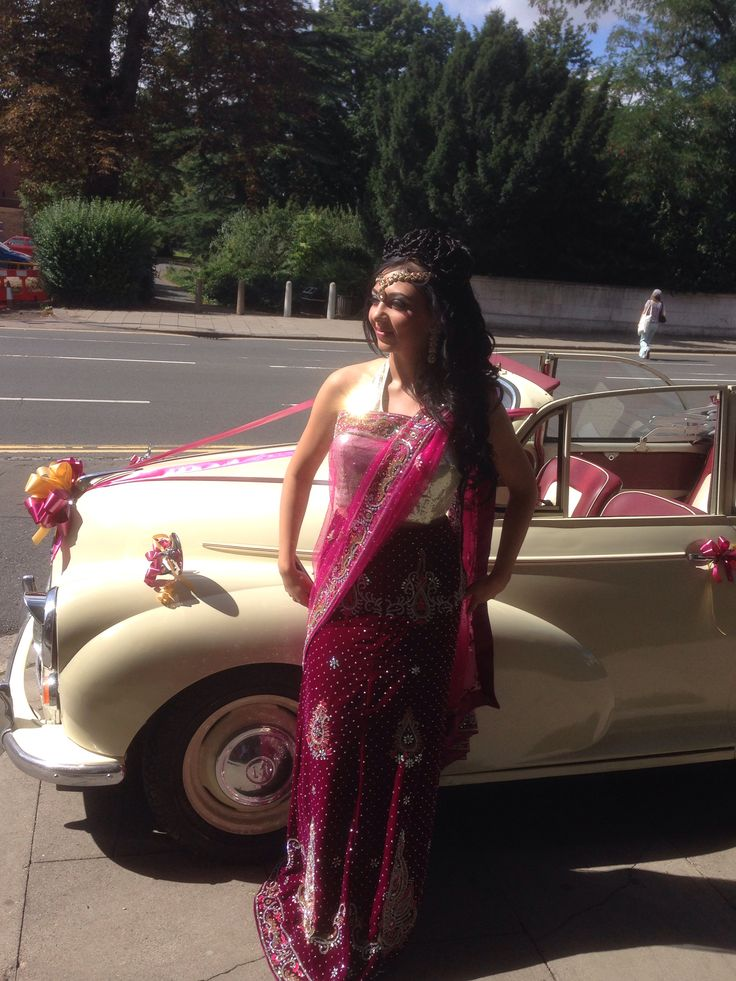 Maggie outside Asian wedding fayre