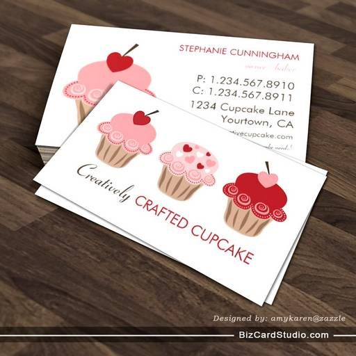 31 best bakery advertisement images on pinterest packaging bakery sweet cupcakes business card template reheart Image collections