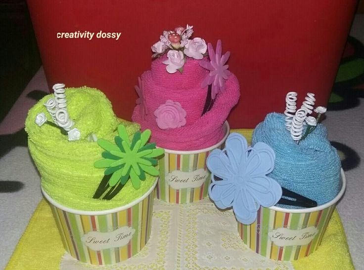 Turbanti con molletta fatto a cupcake