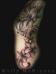 Plumeria tattoo up side...wish I was brave enough to do this!
