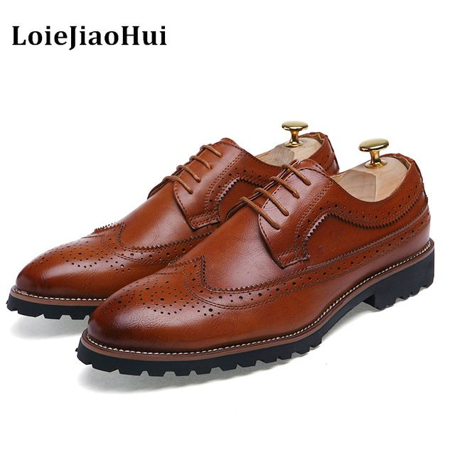 Buy now LOIEJIAOHUI Brand classic vintge carved men oxford shoes genuine leather black business male shoes men flats large size NS092 just only $27.91 with free shipping worldwide  #menshoes Plese click on picture to see our special price for you