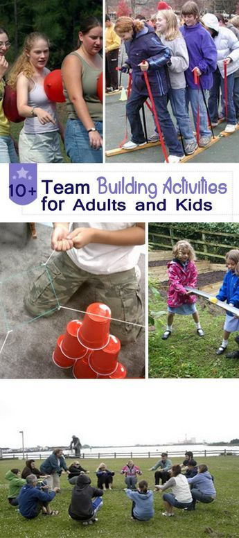 Team Building Activities for Adults and Kids! ~ http://hative.com/team-building-activities-for-adults-and-kids/