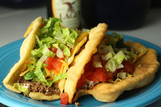 Taco Bell Chalupa Copycat recipe- very delicious!  Next time- add a bit more salt to the dough, and roll out thinner so that they are not as thick when fried.  Otherwise they turned out great!  Very easy to assemble the dough and took just a few minutes to fry.