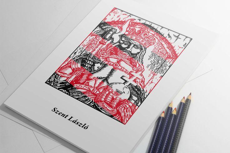 Ladislaus I of Hungary | pen drawing | 2014 on Behance