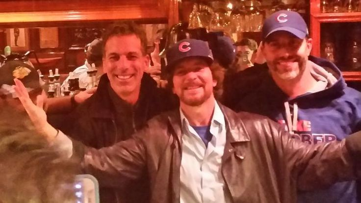 Oh Baby! Eddie you an serve me any time you want! Eddie Vedder serves drinks at The Lodge after Cubs' lossOctober 20th 2015