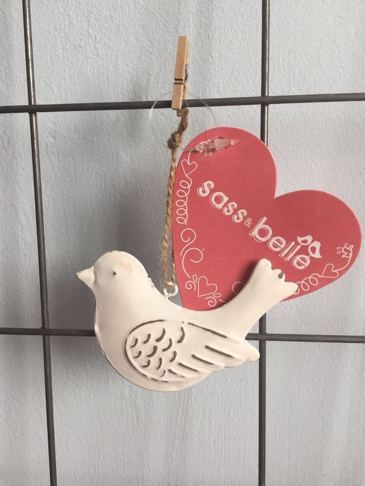 Sass and Belle Vintage Shabby Chic Bird Hanging Decoration | eBay
