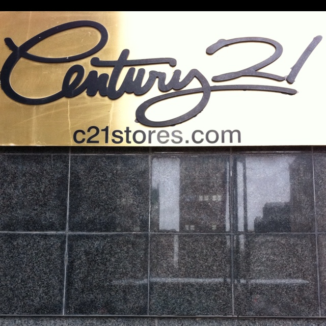 Century 21 clothing store. Designer bargain hunt! Various locations, NYC. There used to be only one, in a former East River Savings Bank building on Church Street, across from the World Trade Center.