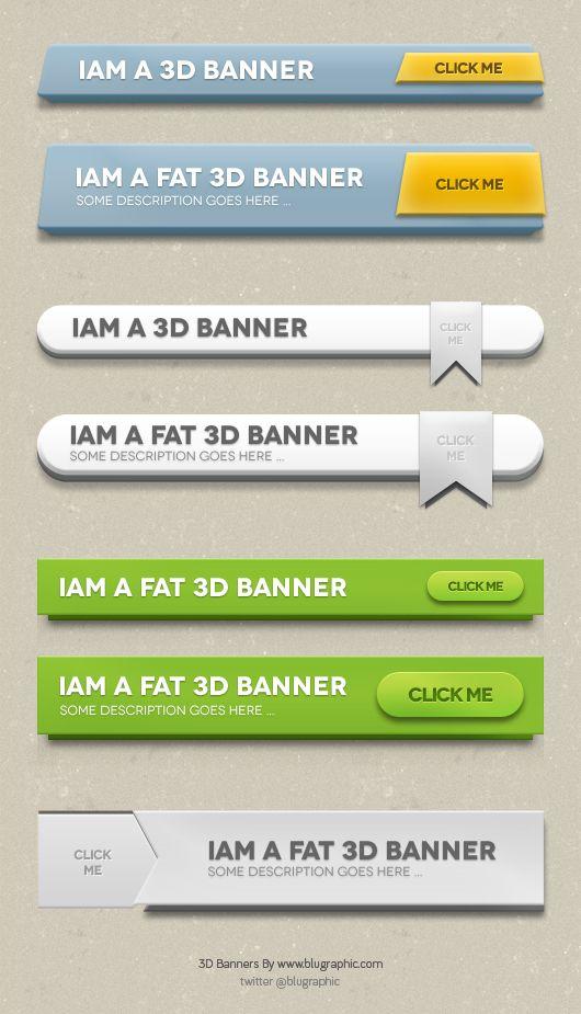 3D Web Banners (Psd)