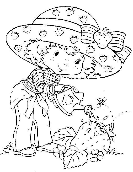 8 best fraisinette images on Pinterest Coloring pages, Coloring - best of coloring pages watering plants