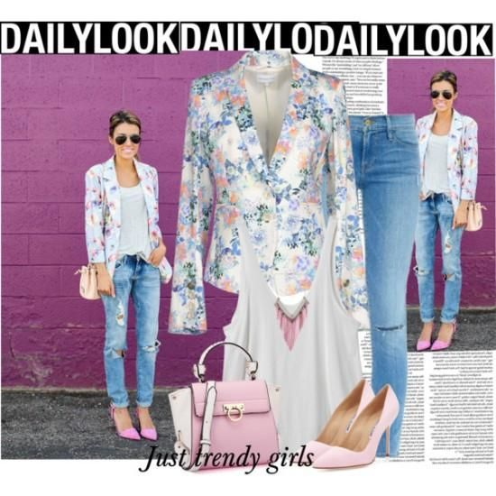 stylish office look with floral blazers Floral blazers styling ideas http://www.justtrendygirls.com/floral-blazers-styling-ideas/