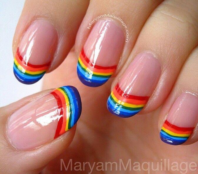 Rainbow Nail Art Designs: Rainbow Nail Designs