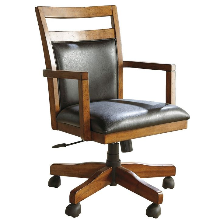 What a Nice Looking Classic Style Desk Chair! Lobink Home Office Desk Chair Brown (Set of 1) - Signature Design by Ashley #ad