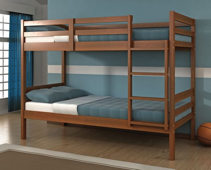 These modern solid wood bunk beds will help you make the most of out limited space in your child's room. They feature two twin beds in a simple, modern style to compliment any decor. Easy to assemble