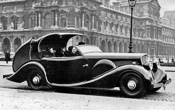 "What is Old is New Again – The Retractable Top (Shown: 1934 Peugeot 601 C ""Eclipse"" by Carrosserie Pourtout)"
