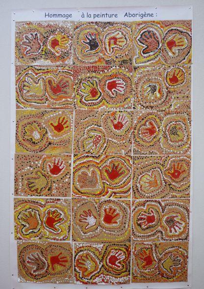 Empreintes « Aborigènes » : l'oeuvre collective de la classe