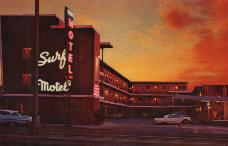 1950's Surf Motel in San Francisco California Postcard..