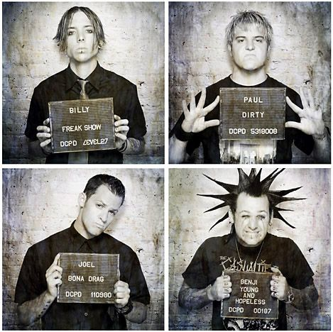 Good Charlotte ~ I bloody love Billy Martin in the top left! He is just so amazing!! He just is!!! He's very cute! He's an amazing guitarist! And when he was younger he defined the Emo look for me! He is just amazing!!