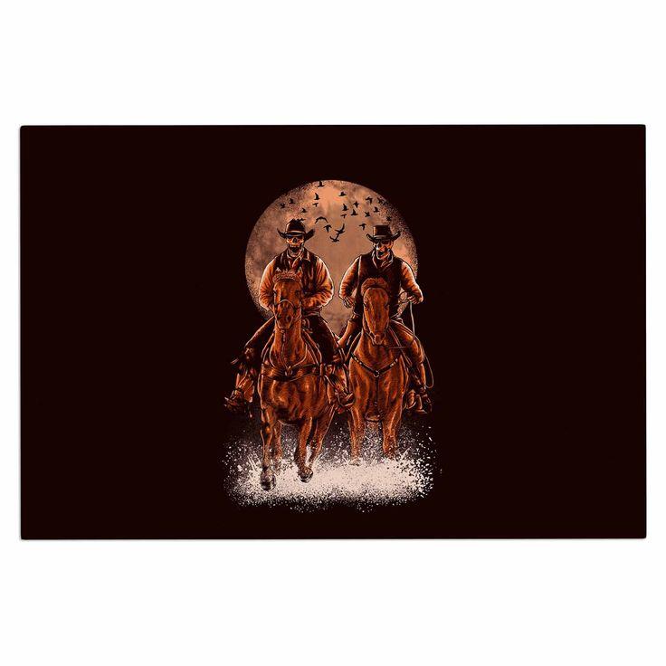 "BarmalisiRTB ""Come At Night"" Brown Orange Decorative Door Mat"