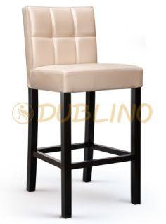 OB V2010 - Barová stolička vo viacerých odtieňoch morenia, na výber viacero možností poťahových látok.