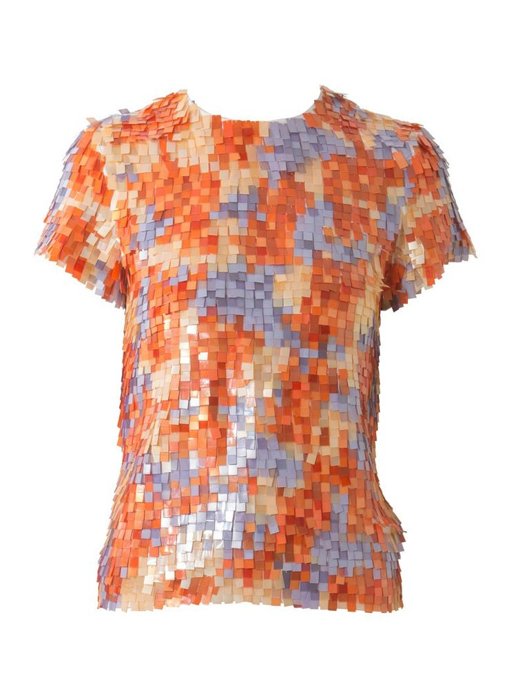 Multi colours sequined top