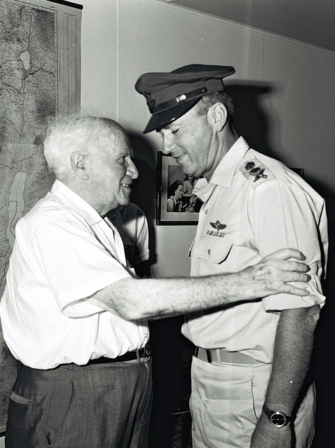 David Ben-Gurion and Yitzhak Rabin by Government Press Office (GPO), via Flickr