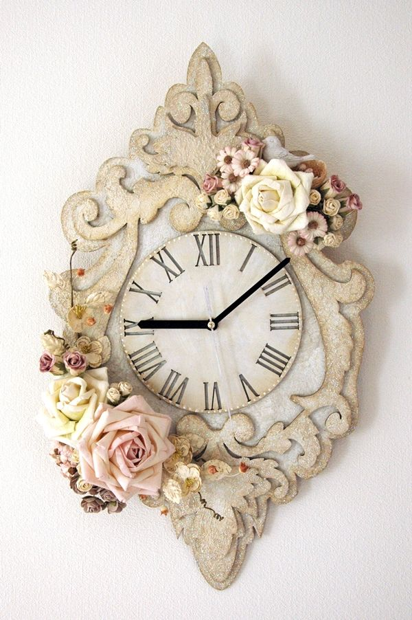 The Dusty Attic Ornate Wall Clock - Scrapbook.com