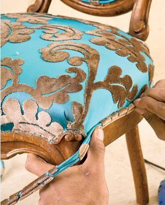 Reupholster a chair tutorial