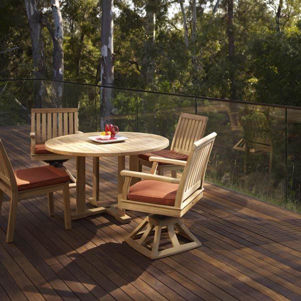 Gloster Cape Rocker Dining Chair: Double Duty Teak Slatted Comfort