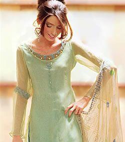 D1578 Pale Green Mala Casual Shalwar Kameez Retailers Online UK, USA, Canada, Australia