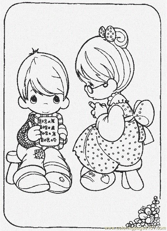 The 2306 best Precious Moments of Coloring images on Pinterest ...