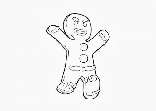 Preschool Printables Gingerbread Man Character