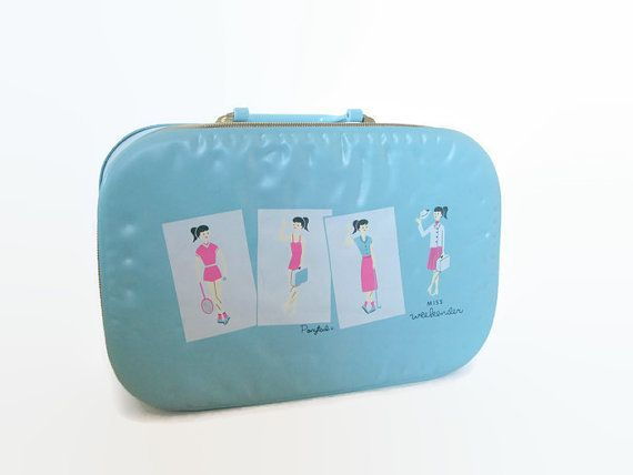 Hey, I found this really awesome Etsy listing at https://www.etsy.com/listing/262840900/ponytail-girl-suitcase-miss-weekender