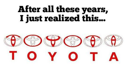 This is pretty cool! Check out the hidden #Toyota in the #Toyota symbol.