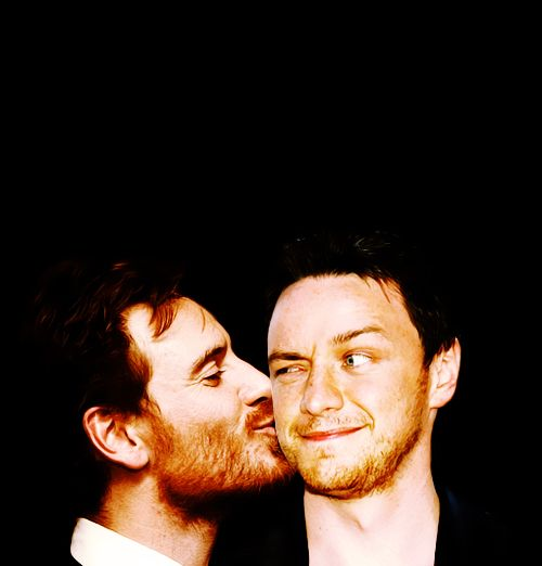 James McAvoy and Michael Fassbender...literally cannot handle this...