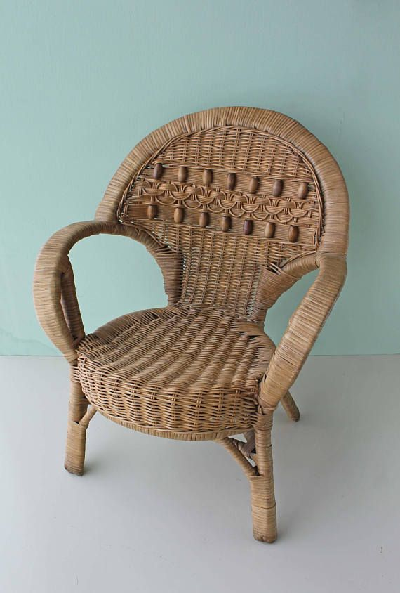 Childrens Wicker Chair Boho Nursery Photo Prop Wicker Chair