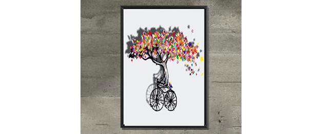 KOLORY PLAKAT ABSTRAKCJA drzewo HIPSTER 50X70 duży - ARTT - Wydruki cyfrowe