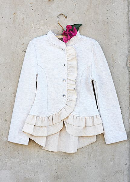 Super cute jacket (Spring/Summer14) by Mia Joy- JoyFolie's clothing company The Spencer Jacket in Oat