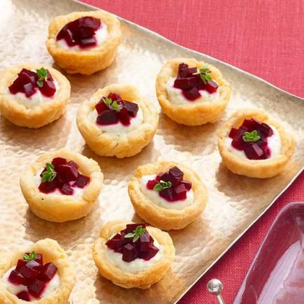 Beet and Farmer Cheese Tartlets