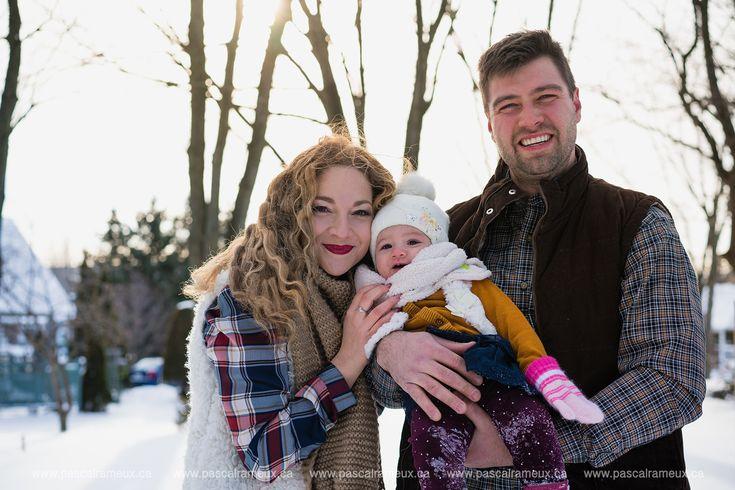 Photos famille en hiver, sous la neige Snowy winter family photography