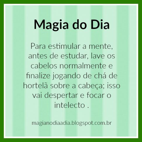 Magia no Dia a Dia: Magia do Dia: hortelã   https://www.facebook.com/curionautas/videos/1003061389824840/