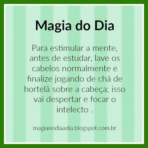 Magia no Dia a Dia: Magia do Dia: hortelã   https://www.facebook.com/curionautas/videos/1003061389824840/