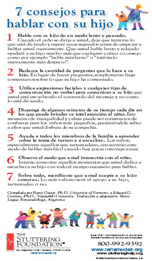 Sttutering Tartamudez 7 consejos para hablar con su hijo