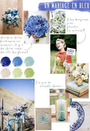©La mariee aux pieds nus – Carnet d inspiration – mariage en bleu