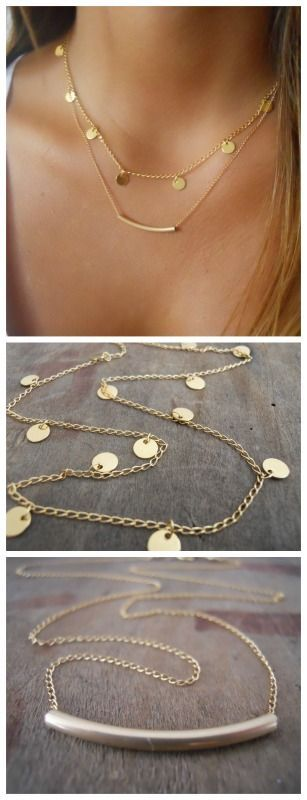Delicate, Trendy, everyday or night necklace set