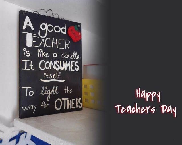 A teacher's purpose is not to create students in his own image, but to develop students who can create their own images. Happy #TeachersDay