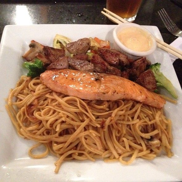 HIBACHI NOODLES  Japanese Steakhouse Copycat Recipe   Serves 6 as a Side Dish   1/4 cup of the Hibachi Cooking Oil  1 tablespoon sesame ...
