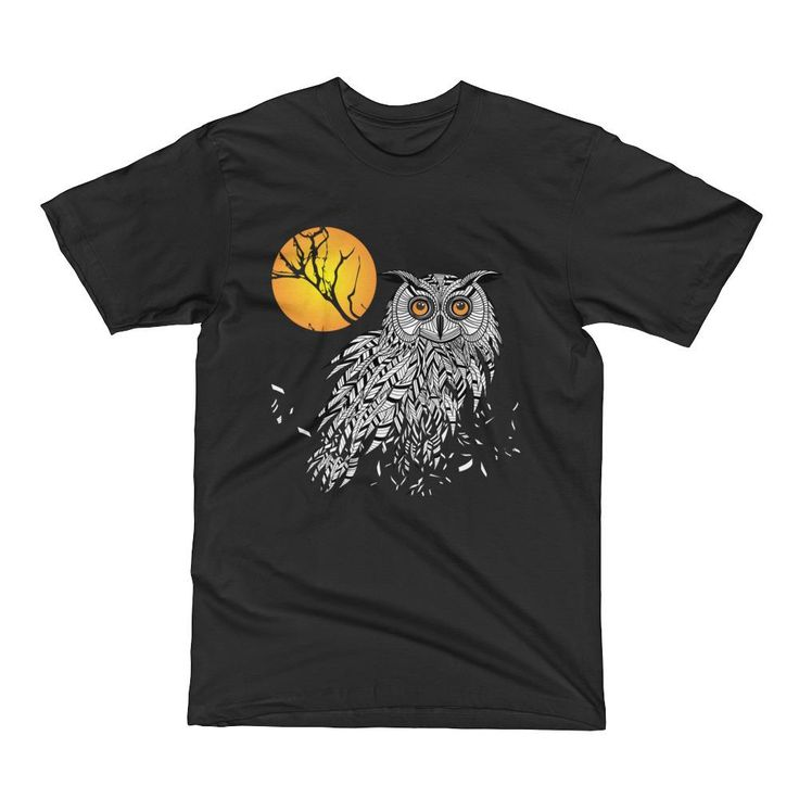 Owl Bird Head as Halloween Symbol Men's Short Sleeve T-Shirt – Ziffu