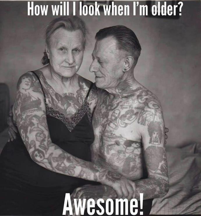 tattoo meme old