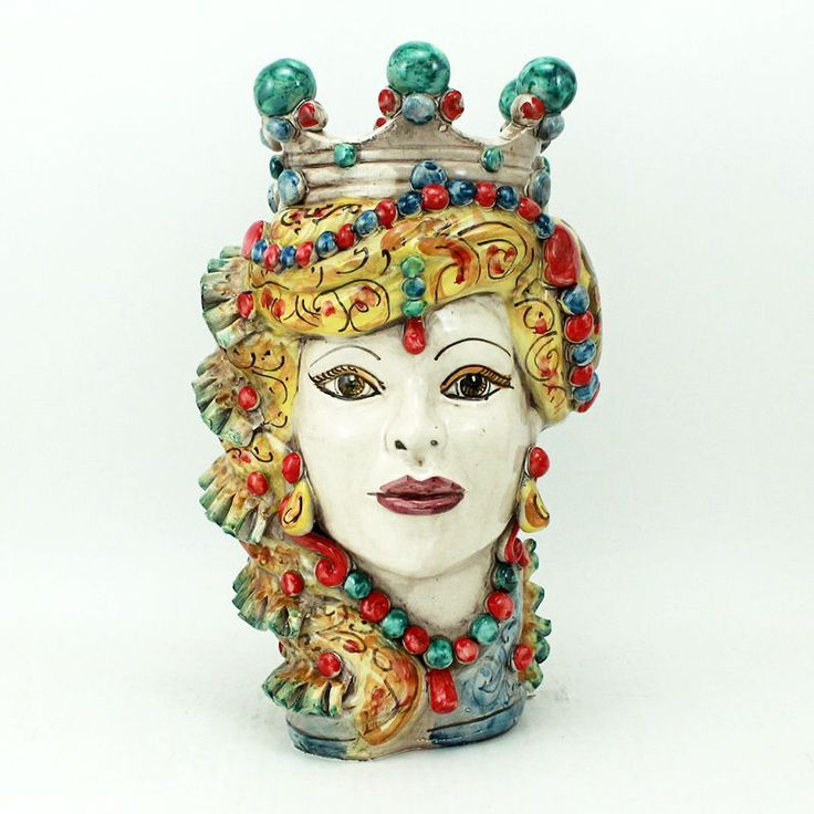 NEW CERAMIC CALTAGIRONE - 35 CM - HAND PAINTED - MADE IN ITALY
