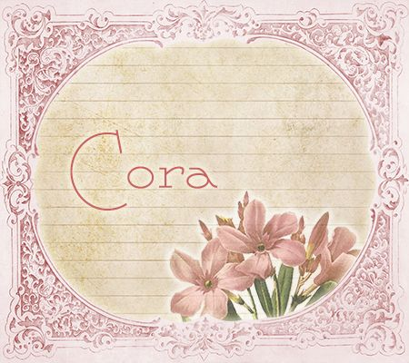 CORA ~ The Most Lovely Vintage Victorian Baby Names! | Disney Baby
